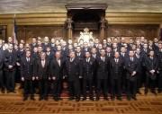 Gruppenfoto vom Gelöbnis im Hamburger Rathaus. - Foto: D. Frommer