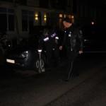 Die Polizei misst nach