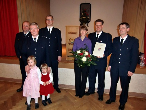 Andreas und Yvonne Burmester im Kreise der Gratulierenden. Copyright W. Abendroth