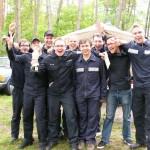 Die völlig unerwartet drittplatzierte Mannschaft aus Osdorf nach der Siegerehrung (c) FFO MT