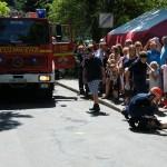 Übung der Jugendfeuerwehr: Reanimation auf der Straße (c) FFO