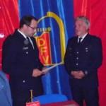 Verleihung der Urkunde durch Landesbereichsführer-Vertreter Harald Burghard