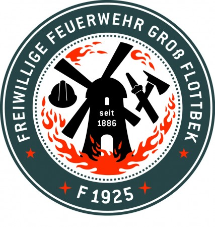 Das neue Wehrlogo der FF Groß-Flottbek