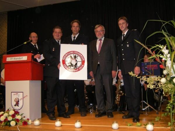 Von links: P.Hug, S.Hertzog, J.Niemax, V.Schiek und S.Wenderoth (© Fro)