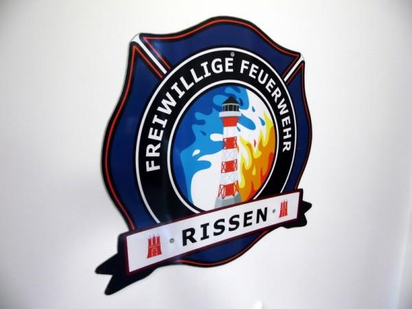 Wehrwappen der FF Rissen im neuen Feuerwehrhaus
