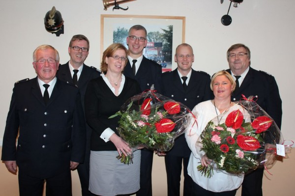 v.l. Werner Meyer, Karsten Dabelstein, Andrea Meyer, Frank Meyer, Heiko Wörmbke, Katrin Wörmbke, Andre Wronski