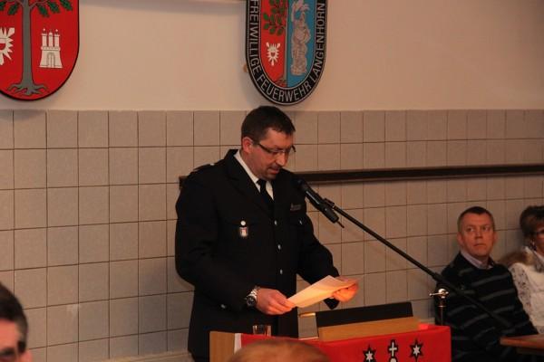 Der Kamerad Sven Kohlrusch führte die Gäste als Moderator durch den Abend.