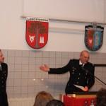 Bereichführer Thomas Kirchhoff bei seiner Dankesrede.