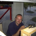Der Klassiker am Arbeitsplatz - Fernmelderei beim Katastropheneinsatz Hochwasser Dresden 2002 (c) MT AG MuK