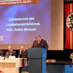 LBF Andre Wronski beim Vortrag seines Jahresberichts (c) AG MuK