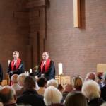 Pastorin Maren Schack, Pastor Nils Christiansen und Pastor Dallas Gastmeier / (c)sn