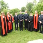 Die Pastoren zusammen mit den Wehrführern der 3 Wehren /(c)T.Dick