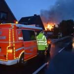 Hier brennt das 2. Reetdachhaus in Francop - Bild: Citynewstv.de