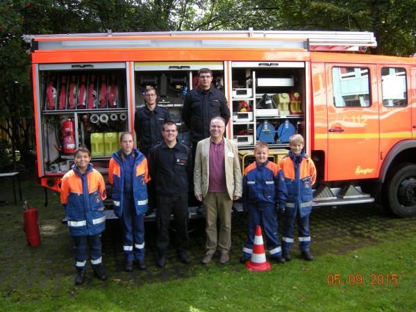Das Team der FF Billstedt-Horn mit H. Portugall (© Fro)