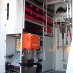 Koffer-Geräteraum, Beladung linke Seite