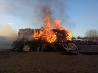 Osterfeuer der Freiwilligen Feuerwehr Billstedt-Horn