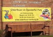 Öjendorfer Osterfeuer - Ankündigung am Feuerwehrhaus