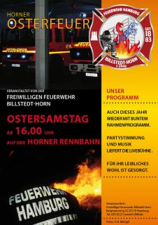 Osterfeuer Plakat -Neu-