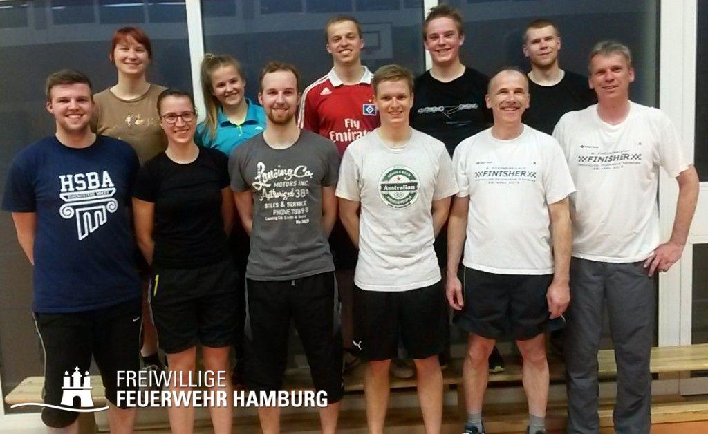 Gute Laune bei den Neuengammer und Curslacker Kameradinnen und Kameraden nach absolvierten Sportprogramm.