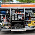 Neben einem Hygienebord verfügt das Fahrzeug über viele neue Werkzeuge wie Türöffnungssatz und Halligantool etc.