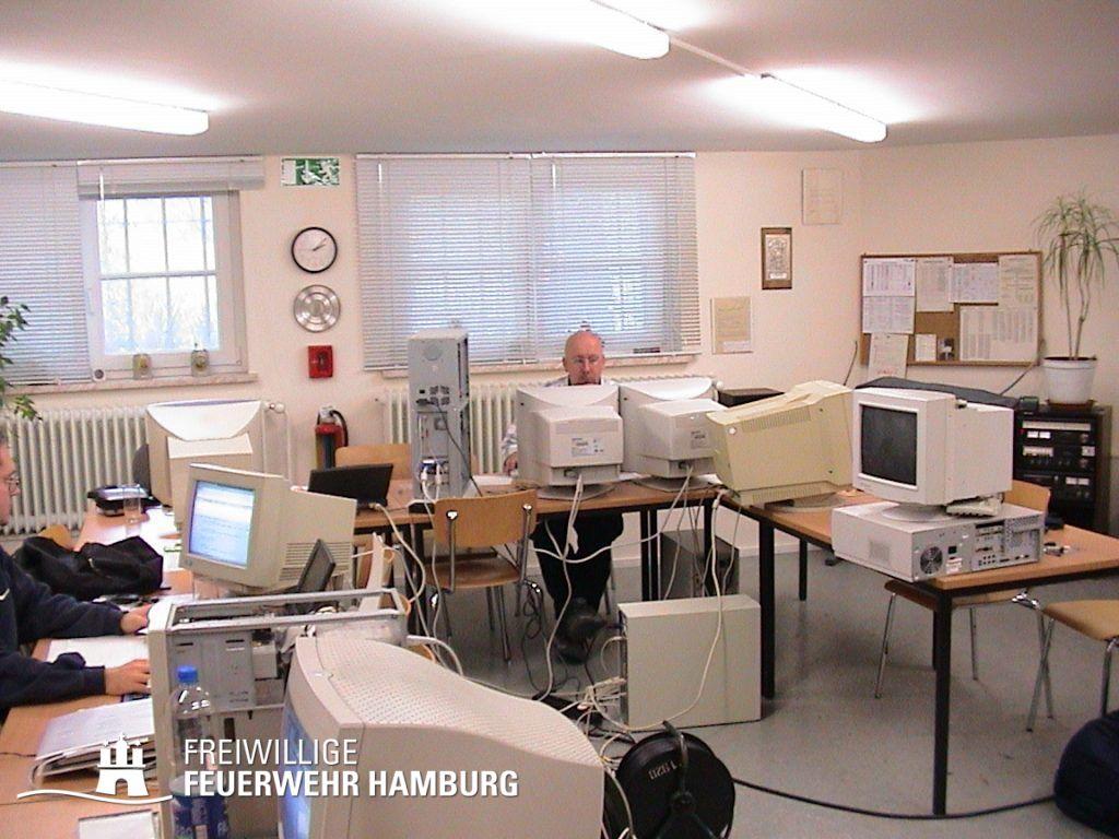 Rechenzentrum der FF Hamburg bei der FF Altona