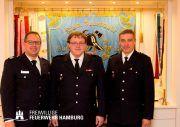 Bereichsführer Henning Heidmann (li.), Timo Obertop, Reinhard Hagelstein (re.) Foto: © Th. Mardt