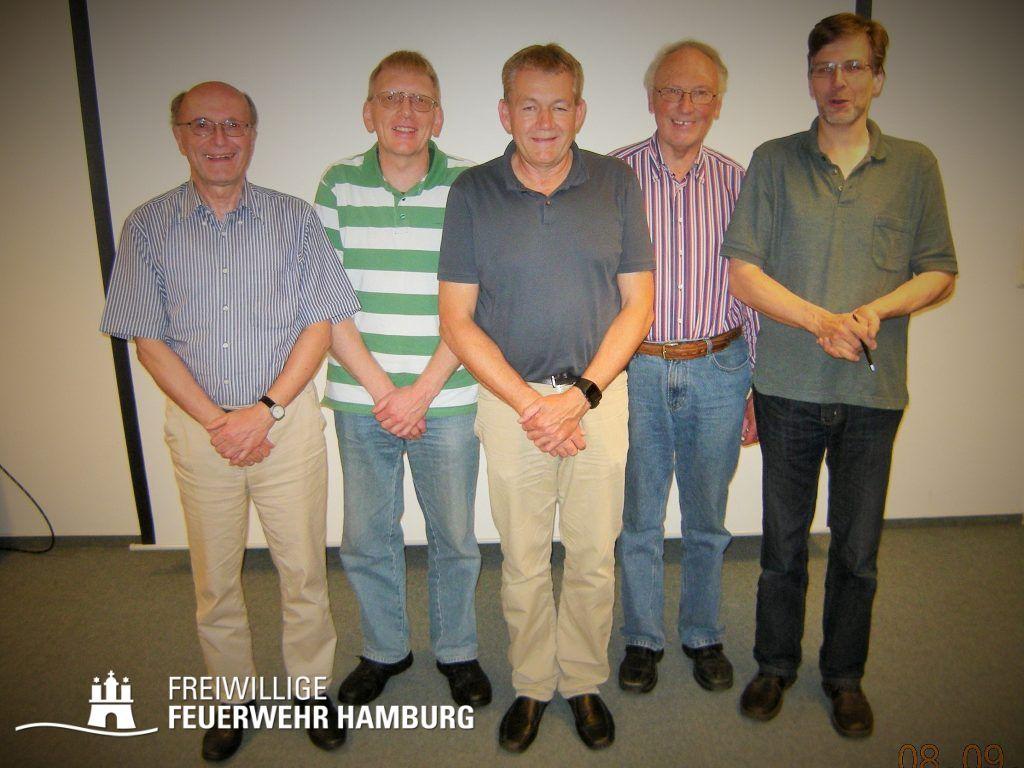 Ein Teil des Vorstandes - C. Tiedemann, M. Molzahn, D. Jeschke, E. Tonn, J. Christiansen (v.links) (©Fro)