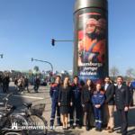 Auch Landesjugendfeuerwehrwart Uwe von Appen und seine Vertreterin Lena Igla freuen sich über die tolle Aktion zum 50. Geburtstag der Jugendfeuerwehr Hamburg.