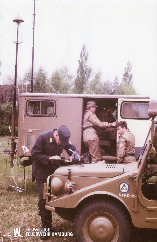 Funkkraftwagen des LSHD im Übungsbetrieb