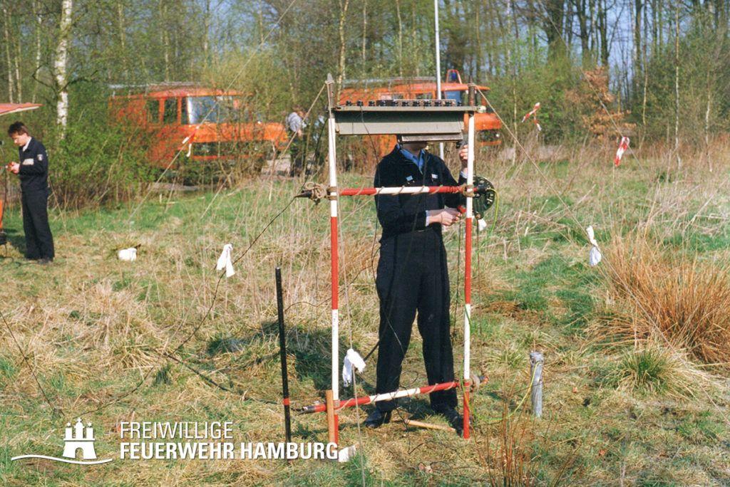 Feldkabelbau kurz vor der Auflösung der Fernmeldezüge Anfang der 90er Jahre