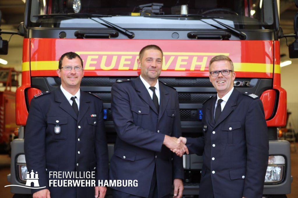 links WF/V Marco Sommer, in der Mitte WF Olaf Eilk und rechts BERF Karsten Dabelstein