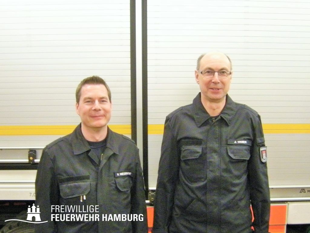 FF Schnelsen - Marco Niederkleine (links) mit Jan Hamer (© Fro)