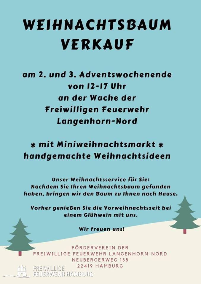 Weihnachtsbaumverkauf bei der ff langenhorn nord freiwillige feuerwehr hamburg - Weihnachtsbaumverkauf hamburg ...