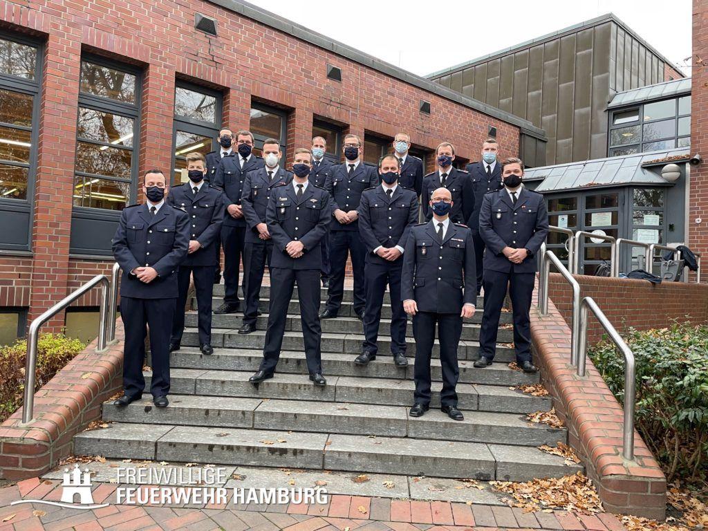 12 neue Zugführer der FF Hamburg geprüft am 11.12.2020