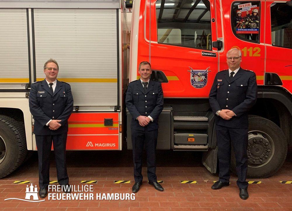 BerF Henning Heidmann, WFV Heiko Kracht, WF Fabian Keller (vlnr)